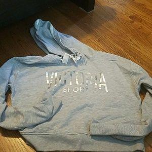 Victoria's Secret Tops - Victoria's Secret Crop Sweatshirt